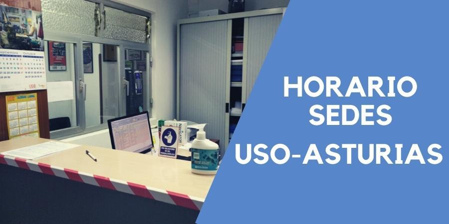 Horario de atención en las sedes de USO-Asturias