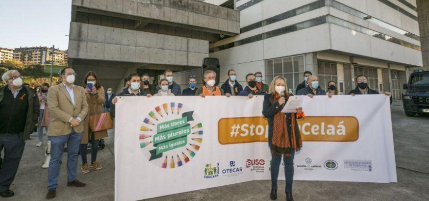 FEUSO-Asturias protesta contra la Ley Celaá. Sindicato USO-Asturias