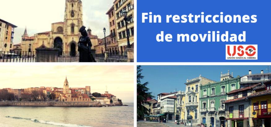 Se levantan las restricciones de movilidad en Asturias a seis concejos. Sindicato USO-Asturias