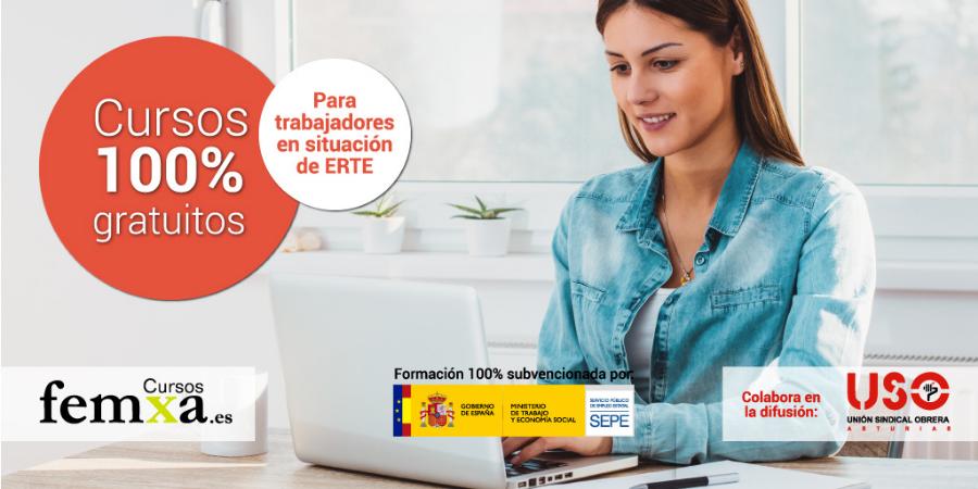 Trabajadores en ERTE de Asturias: cursos gratuitos y on-line