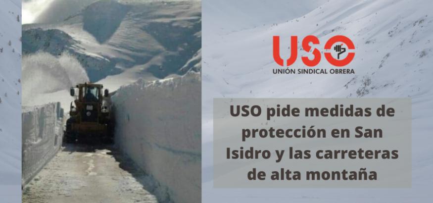 USO reclama medidas de seguridad frente a los aludes en el puerto de San Isidro