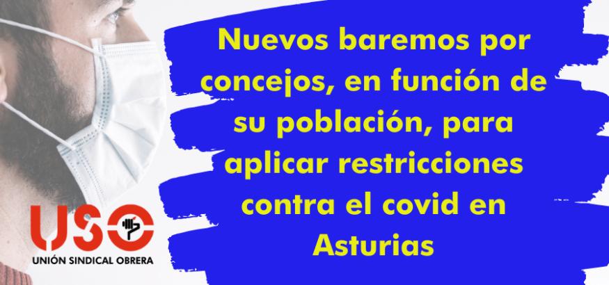 Nuevas medidas para prevenir los contagios por covid-19 en Asturias