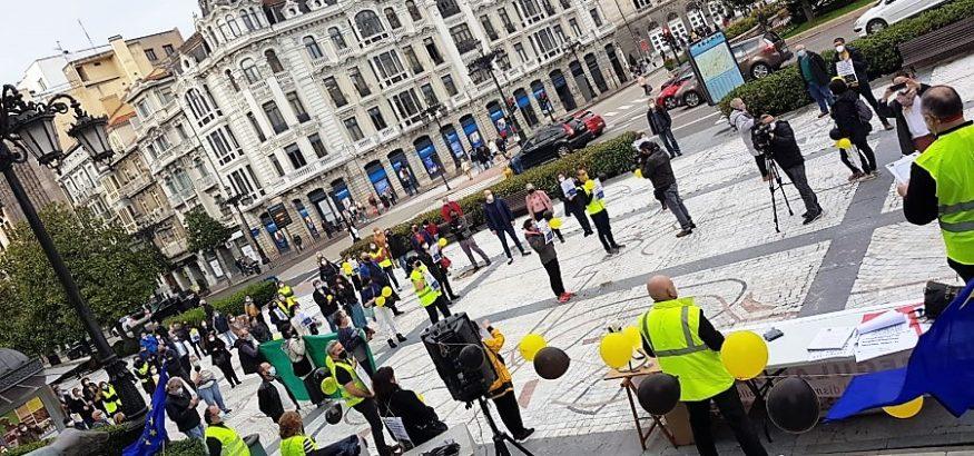 USO en la manifestación por los funcionarios en Asturias