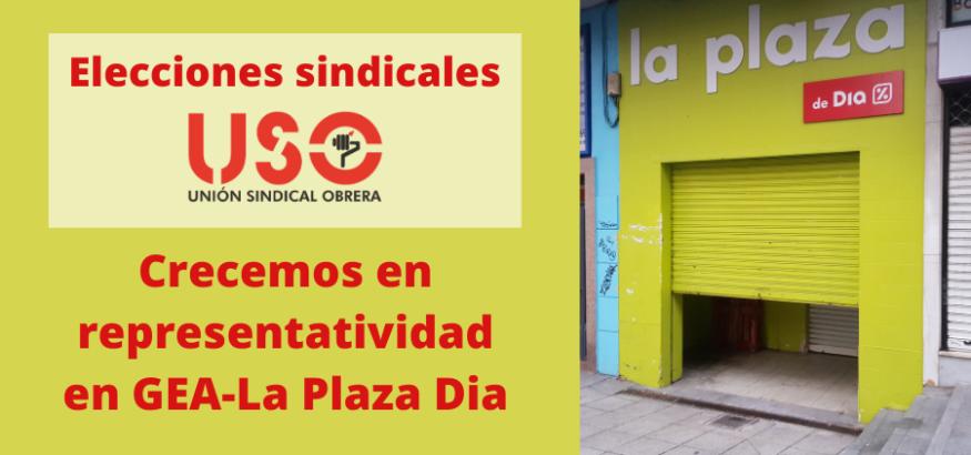 USO crece en representatividad en La Plaza Dia, antiguo El Árbol
