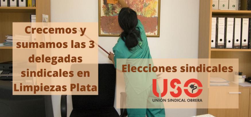 FS-USO crece en las elecciones sindicales de Limpiezas Plata y obtiene las tres delegadas