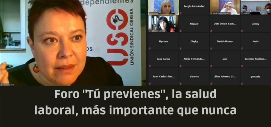 """USO-Asturias, junto con el Instituto Asturiano de Prevención de Riesgos Laborales, ha organizado con gran éxito de participación el XII Foro """"Tú previenes"""", telemático por la pandemia"""