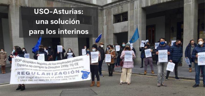 USO-Asturias reclama a la Junta General una solución para los interinos