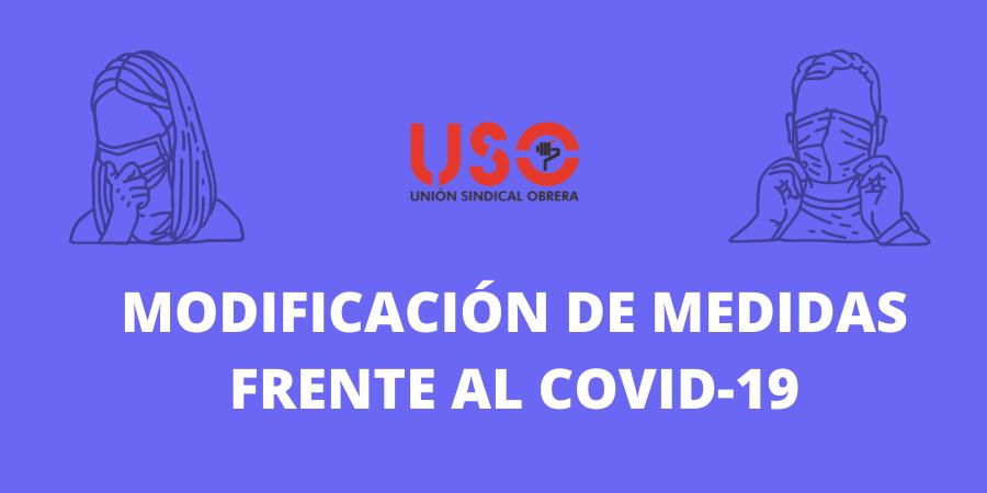 Modificación de las medidas frente al covid-19 en Asturias