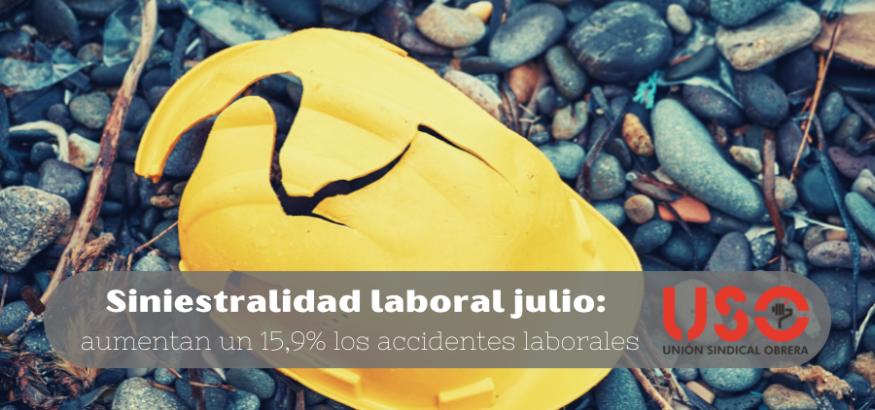 Sindicato USO. 6.030 accidentes de trabajo en Asturias hasta julio